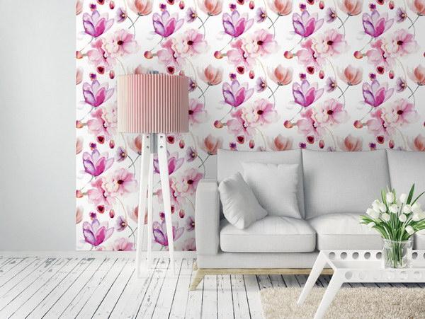 Murando DeLuxe Pastelové kvìty Klasické tapety  49x1000 cm - samolepicí - zvìtšit obrázek