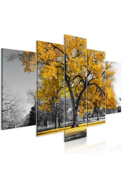 Murando DeLuxe Pìtidílný obraz žlutý strom  - zvìtšit obrázek