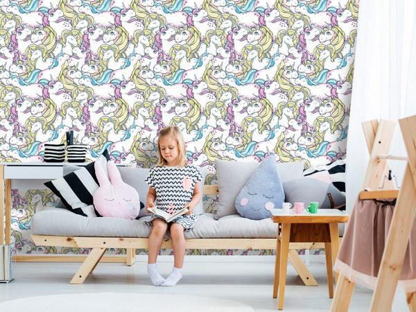 Murando DeLuxe Jednorožci Klasické tapety  49x1000 cm - samolepicí - zvìtšit obrázek