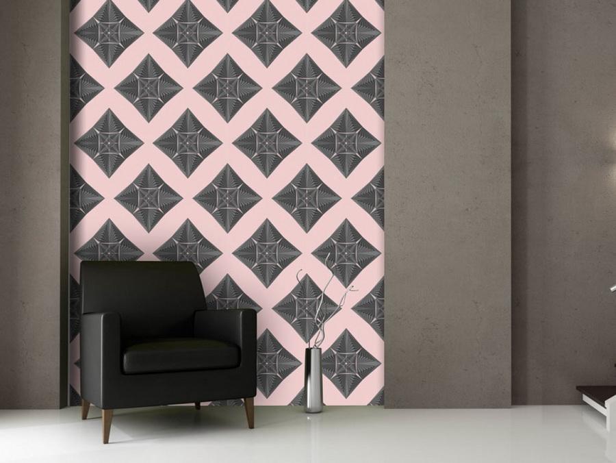 Murando DeLuxe Šedo rùžová mozaika Klasické tapety  49x1000 cm - samolepicí - zvìtšit obrázek