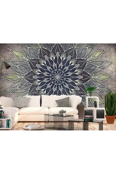 Murando DeLuxe Tapeta jemná šedá mandala  - zvìtšit obrázek