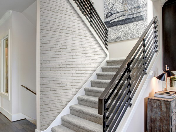 Murando DeLuxe Bílá cihla Klasické tapety  49x1000 cm - samolepicí - zvìtšit obrázek