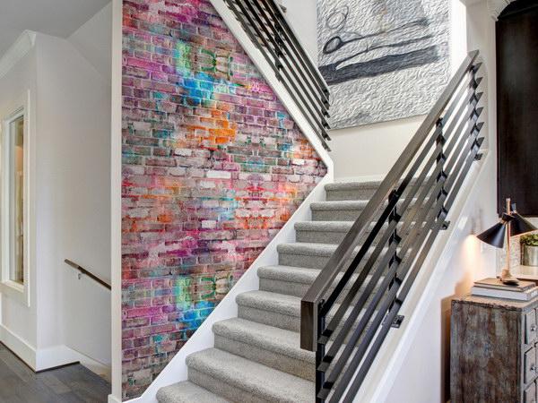 Murando DeLuxe Barevná cihlová zeï Klasické tapety  49x1000 cm - samolepicí - zvìtšit obrázek