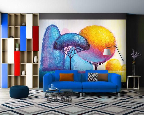 Malvis Tapeta barevné stromy Vel. (šíøka x výška)  144 x 105 cm - zvìtšit obrázek