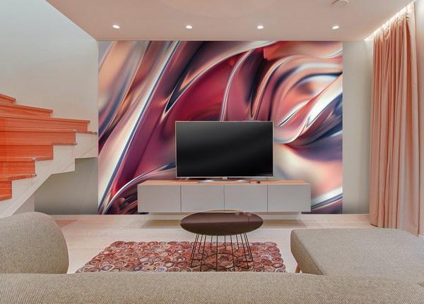 Malvis Tapeta abstrakce v podzimních barvách Vel. (šíøka x výška)  144 x 105 cm - zvìtšit obrázek