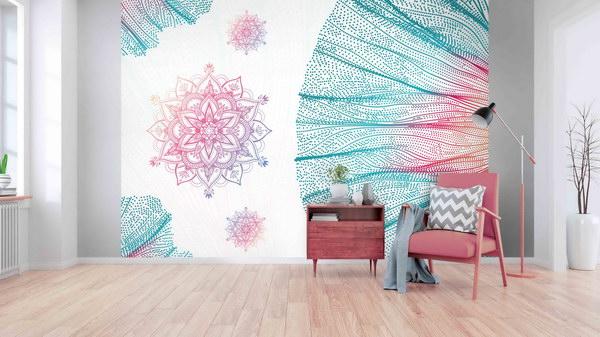 Malvis Tapeta mandala v pastelech Vel. (šíøka x výška)  144 x 105 cm - zvìtšit obrázek