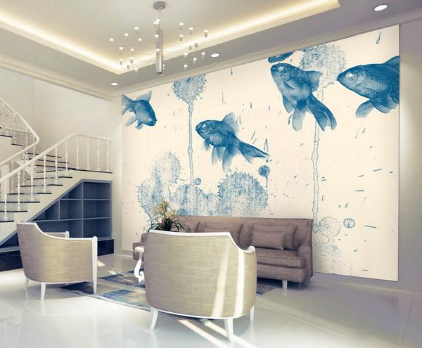 Malvis Tapeta modré rybky Vel. (šíøka x výška)  144 x 105 cm - zvìtšit obrázek
