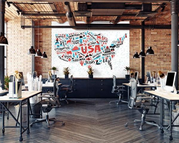 Malvis Tapeta grafická mapa USA Vel. (šíøka x výška)  144 x 105 cm - zvìtšit obrázek
