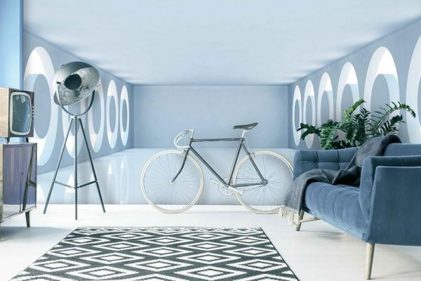 Malvis 3D Tapeta místnost s kruhy na bocích Vel. (šíøka x výška)  144 x 105 cm - zvìtšit obrázek