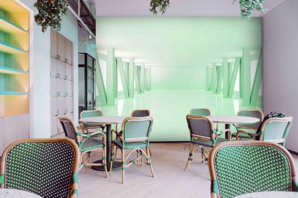 Malvis 3D tapeta místnost zelená Vel. (šíøka x výška)  144 x 105 cm - zvìtšit obrázek
