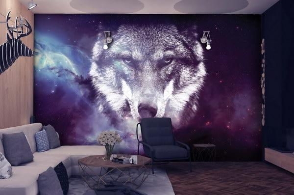 Malvis Tapeta vesmírný vlk Vel. (šíøka x výška)  144 x 105 cm - zvìtšit obrázek