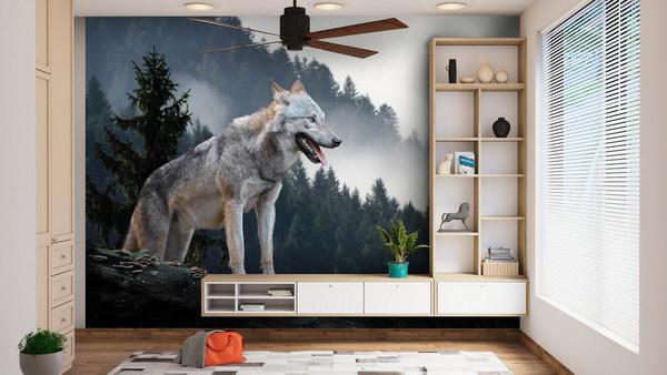 Malvis Tapeta Vlk v lese Vel. (šíøka x výška)  144 x 105 cm - zvìtšit obrázek