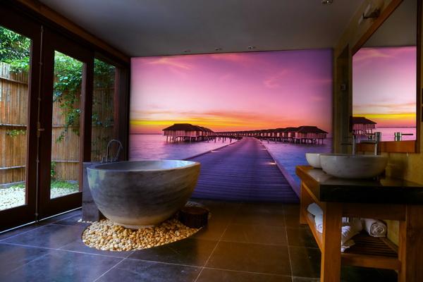 Malvis Tapeta Maledivy pøi západu slunce Vel. (šíøka x výška)  144 x 105 cm - zvìtšit obrázek