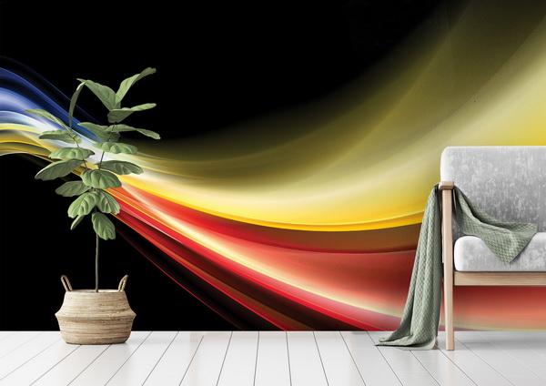 Malvis Abstraktní tapeta barevná vlna Vel. (šíøka x výška)  144 x 105 cm - zvìtšit obrázek