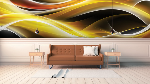 Malvis Abstraktní tapeta barevné vlny Vel. (šíøka x výška)  144 x 105 cm - zvìtšit obrázek