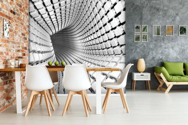 Malvis 3D tapeta Abstrakt tunel Vel. (šíøka x výška)  144 x 105 cm - zvìtšit obrázek
