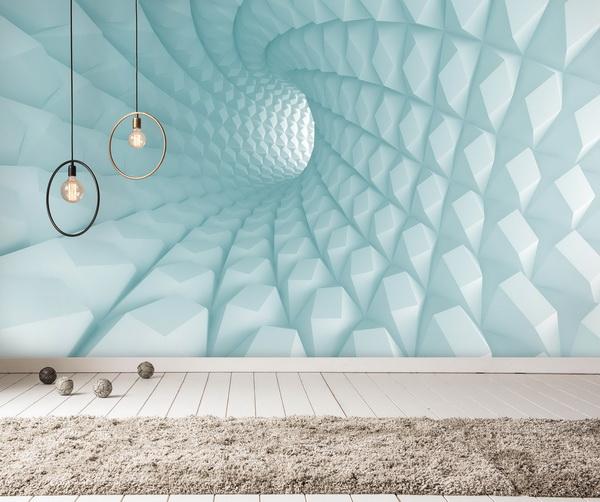Malvis 3D tapeta mentolový tunel Vel. (šíøka x výška)  144 x 105 cm - zvìtšit obrázek