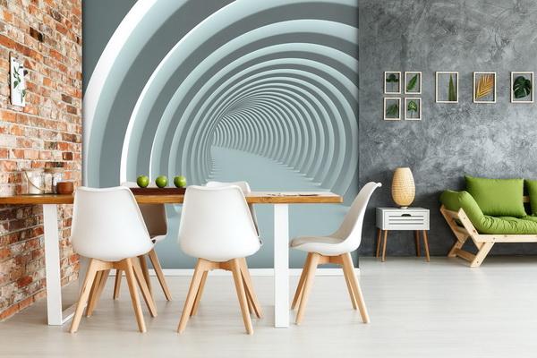 Malvis Tapeta Abstrakt tunel white Vel. (šíøka x výška)  144 x 105 cm - zvìtšit obrázek