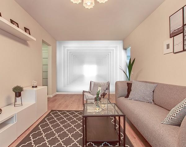 Malvis Tapeta 3D bílá chodba Vel. (šíøka x výška)  144 x 105 cm - zvìtšit obrázek