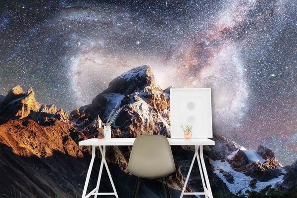 Malvis Tapeta Hory s noèní oblohou Vel. (šíøka x výška)  144 x 105 cm - zvìtšit obrázek