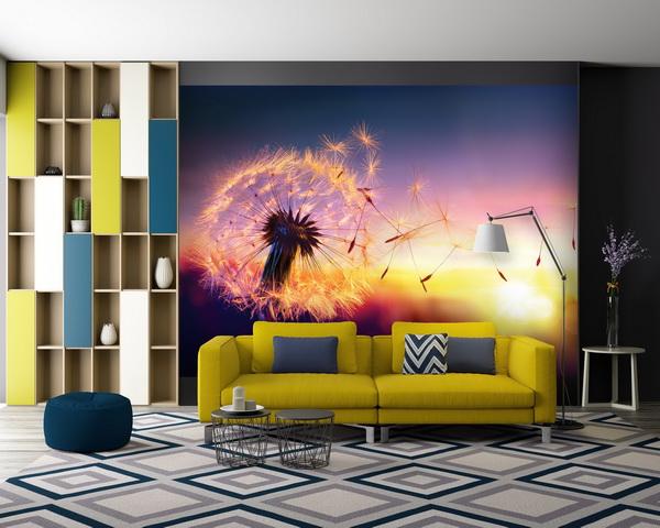 Malvis Tapeta Západ slunce a pampeliška Vel. (šíøka x výška)  144 x 105 cm - zvìtšit obrázek