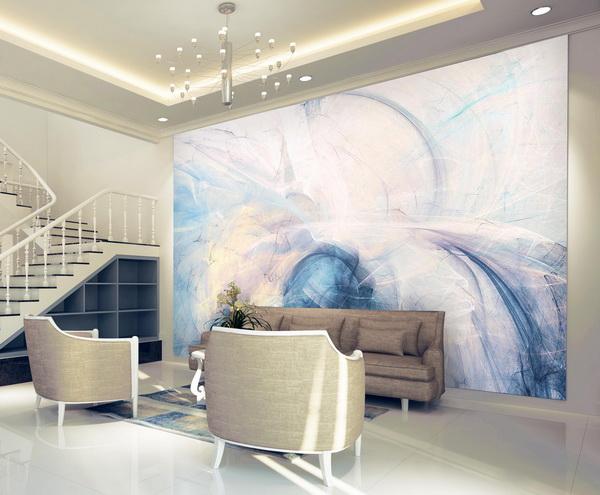 Malvis Tapeta jemné abstrakce - modrá Vel. (šíøka x výška)  144 x 105 cm - zvìtšit obrázek