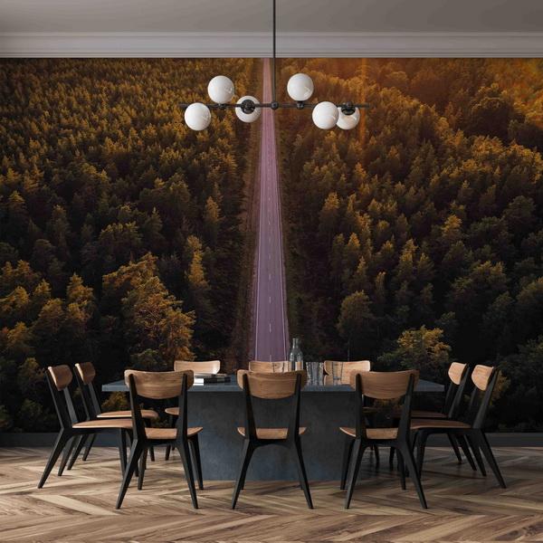 Malvis Tapeta lesní silnice Vel. (šíøka x výška)  144 x 105 cm - zvìtšit obrázek