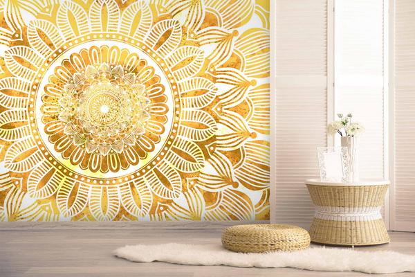 Malvis Tapeta mandala slunce Vel. (šíøka x výška)  144 x 105 cm - zvìtšit obrázek