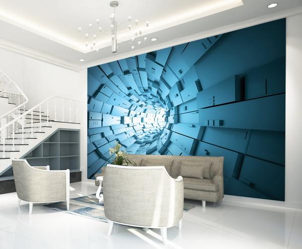 Malvis Tapeta Abstrakt tunel modrý Vel. (šíøka x výška)  144 x 105 cm - zvìtšit obrázek