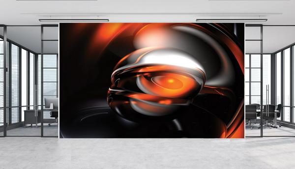 Malvis Tapeta abstrakt 3D orange Vel. (šíøka x výška)  144 x 105 cm - zvìtšit obrázek