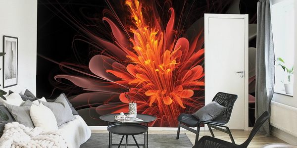 Malvis Tapeta ohnivá kvìtina Vel. (šíøka x výška)  144 x 105 cm - zvìtšit obrázek