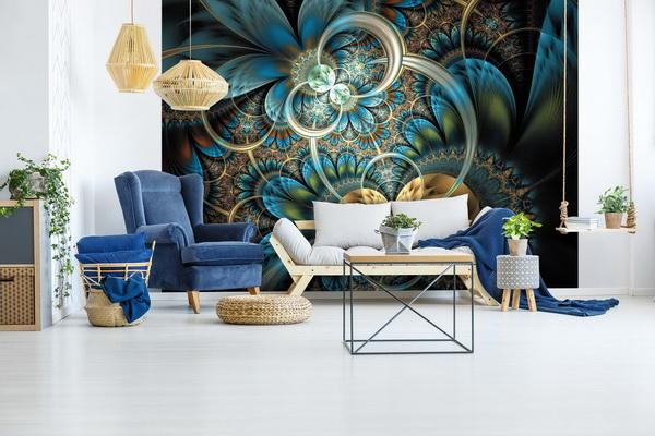 Malvis Tapeta modrozlaté obrazce Vel. (šíøka x výška)  144 x 105 cm - zvìtšit obrázek