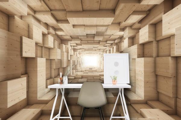 Malvis 3D tapeta døevìný tunel Vel. (šíøka x výška)  144 x 105 cm - zvìtšit obrázek