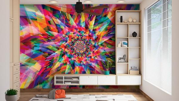 Malvis Tapeta Abstrakt barevná hvìzda Vel. (šíøka x výška)  144 x 105 cm - zvìtšit obrázek