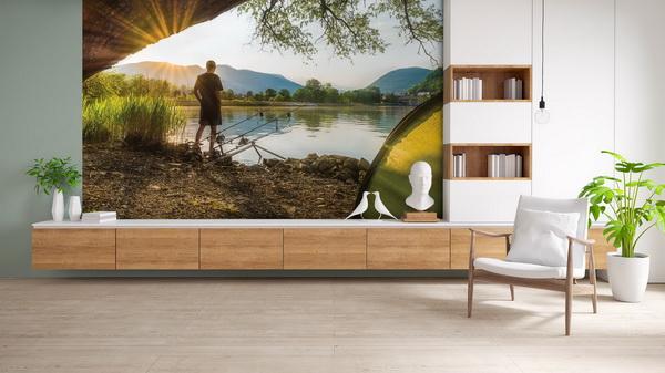 Malvis Tapeta Východ slunce a rybáø Vel. (šíøka x výška)  144 x 105 cm - zvìtšit obrázek