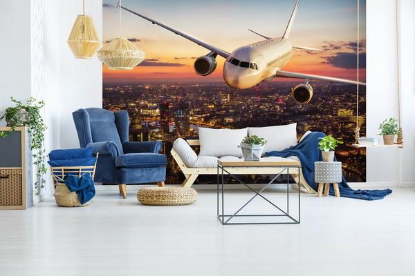 Malvis Tapeta Letadlo nad Londýnem Vel. (šíøka x výška)  144 x 105 cm - zvìtšit obrázek