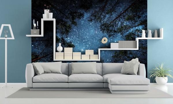 Malvis Tapeta Noèní obloha v lese Vel. (šíøka x výška)  144 x 105 cm - zvìtšit obrázek