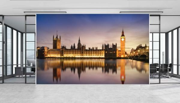 Malvis Tapeta Veèerní Westminsterský palác Vel. (šíøka x výška)  144 x 105 cm - zvìtšit obrázek