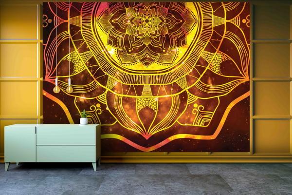 Malvis Tapeta Ohnivá mandala Vel. (šíøka x výška)  144 x 105 cm - zvìtšit obrázek