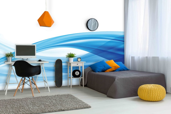 Malvis Tapeta Vlna v modré Vel. (šíøka x výška)  144 x 105 cm - zvìtšit obrázek