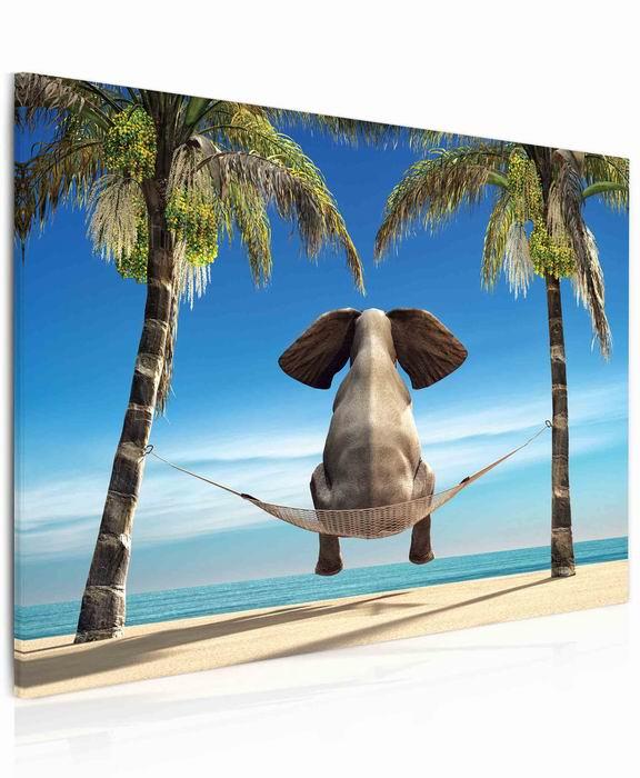 Malvis Obraz Vtipný slon na pláži  - zvìtšit obrázek