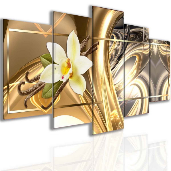 Malvis Abstraktní vanilka zlatá  - zvìtšit obrázek