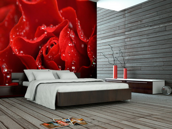 Murando DeLuxe Fototapeta rudá rùže  - zvìtšit obrázek