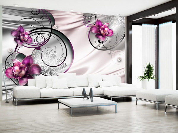 Murando DeLuxe Fialová orchidej - abstrakce  - zvìtšit obrázek