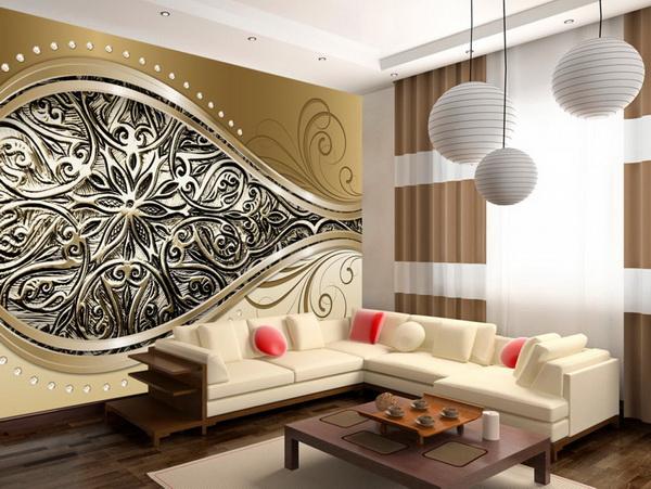 Murando DeLuxe Luxusní tapeta zlaté oko  - zvìtšit obrázek