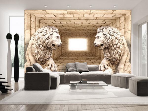 Murando DeLuxe 3D tapeta lví strážci  - zvìtšit obrázek