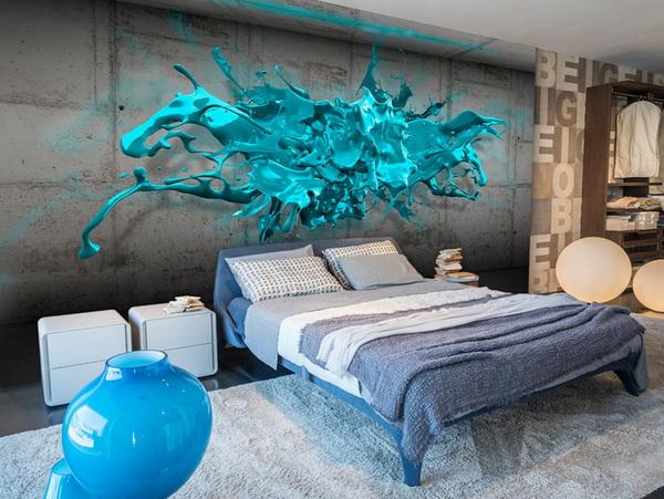 Murando DeLuxe 3D tyrkysová tapeta  - zvìtšit obrázek