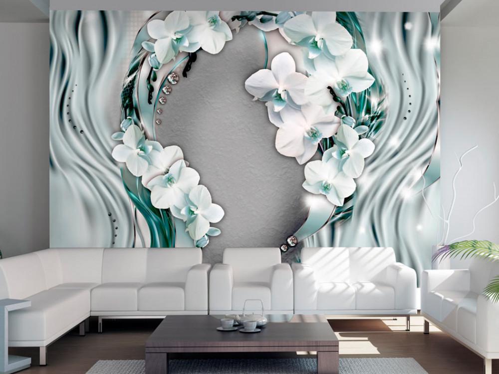 Murando DeLuxe Tapeta proudy orchidejí  - zvìtšit obrázek