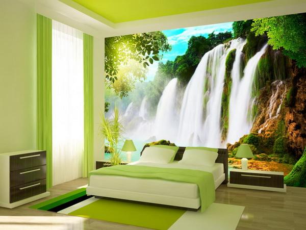 Murando DeLuxe Tapeta horský vodopád tyrkys  - zvìtšit obrázek