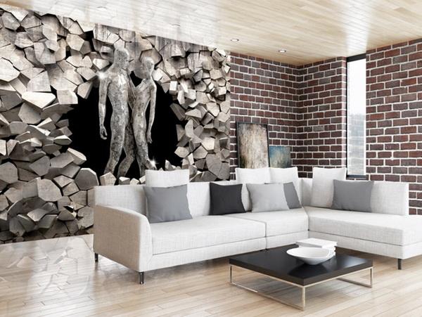 Murando DeLuxe 3D tapeta láska v kamenech  - zvìtšit obrázek
